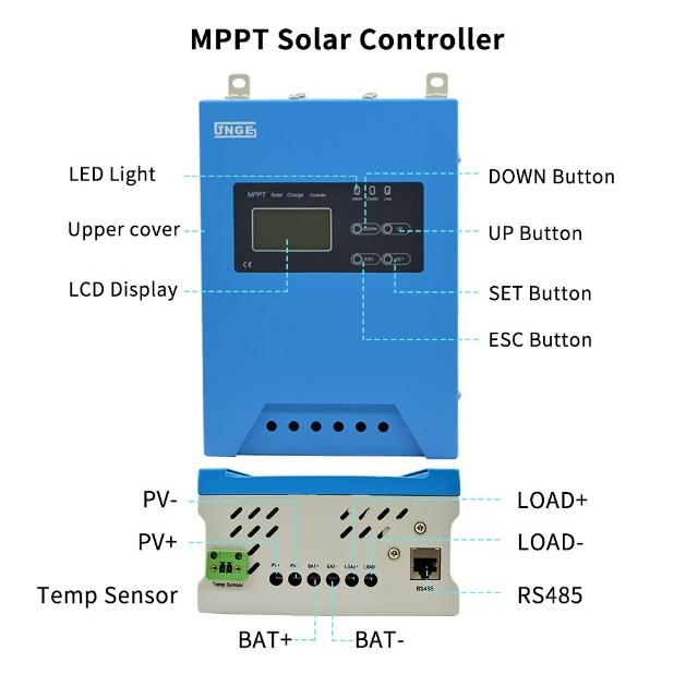 JN MPPT AL 40A1 - Bộ điều khiển sạc năng lượng mặt trời MPPT JNGE 12V/24V/48V 40A