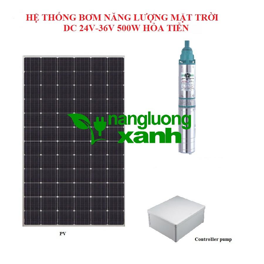 bom nang luong mat troi 500w - Hệ thống bơm hỏa tiễn Năng lượng mặt trời 24V/36V 500W