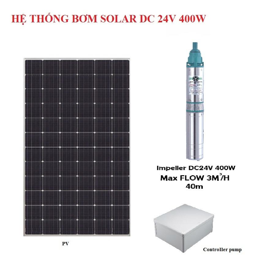nhuttran173 - Hệ thống bơm hỏa tiễn Năng lượng mặt trời 24V 400W
