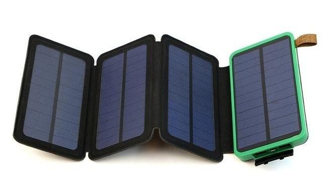 Sạc dự phòng Năng lượng Mặt Trời 4 tấm pin