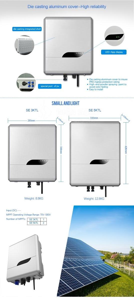 Inverter hoa luoi Senergy 2Kw SE2KTL S11 - Inverter hòa lưới Senergy 2Kw SE2KTL