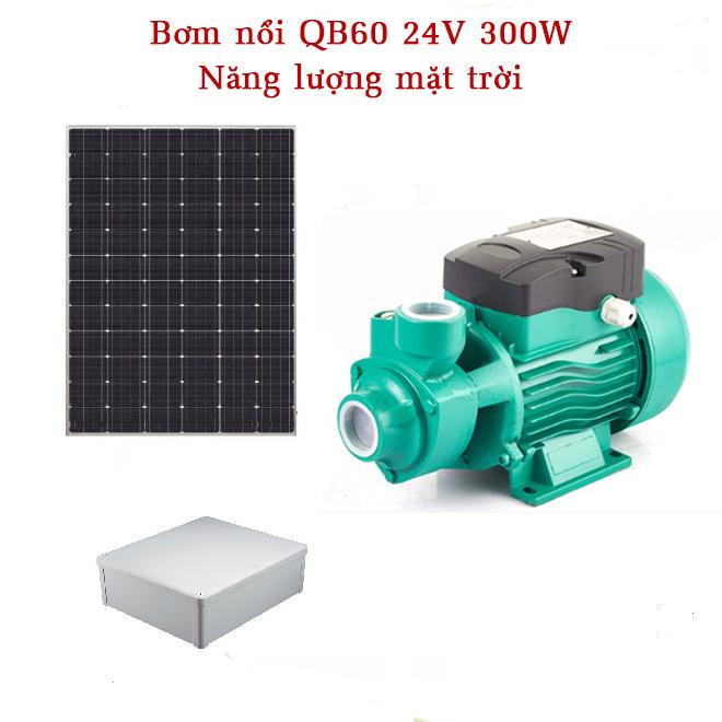 He thong bom noi qb60 24v 300w - Hệ thống Bơm nổi QB60 24V 300W năng lượng mặt trời
