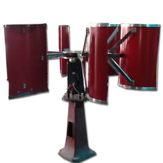 tiep4 - Tuabine gió 3Kw trục đứng, thân inox, 6 cánh inox