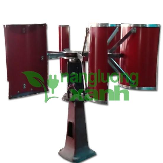 tiep41 1 - Tuabin gió 3Kw trục đứng, thân inox, 6 cánh inox
