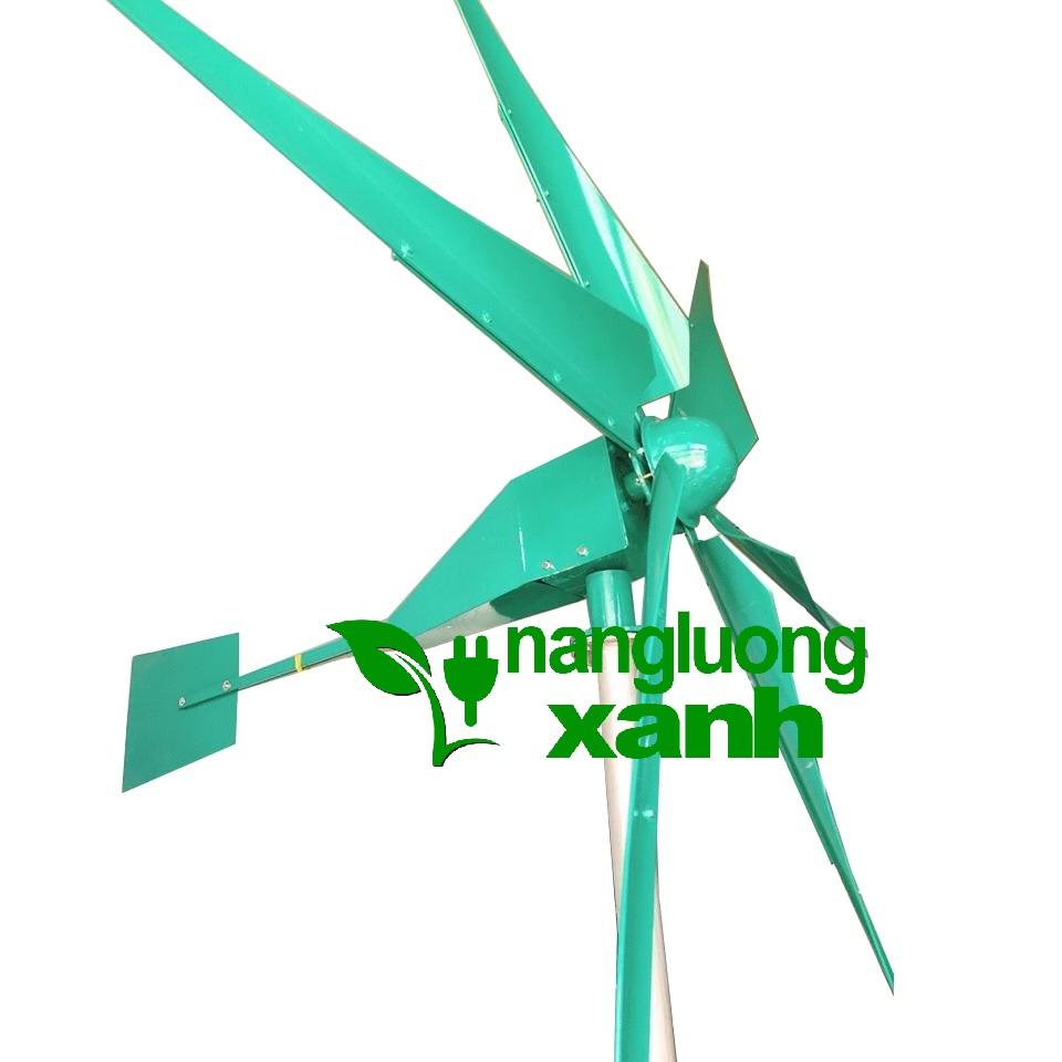 tuabine - Tuabine gió 4000W trục ngang, 6 cánh