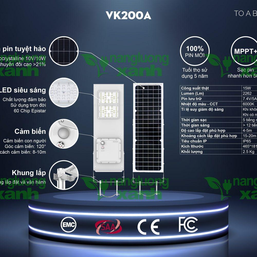 VK200A1 1000x1000 - Đèn chiếu sáng năng lượng mặt trời VK200A
