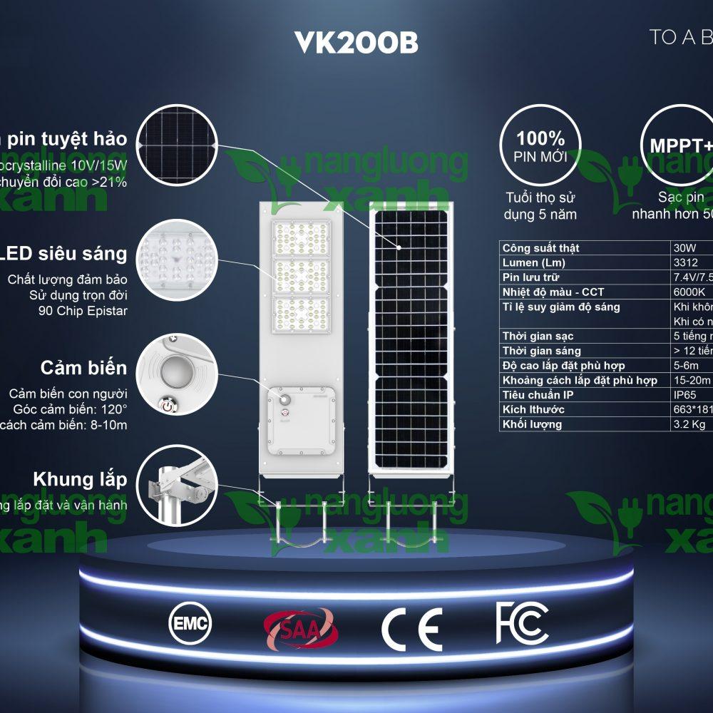 VK200B1 1000x1000 - Đèn chiếu sáng năng lượng mặt trời VK200B