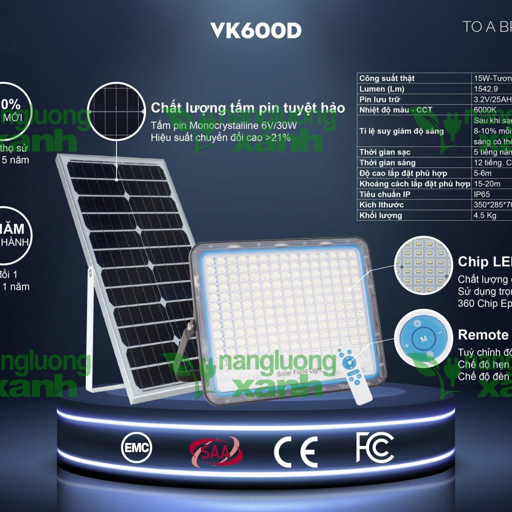 VK600D1 1 1000x1000 - Đèn chiếu sáng năng lượng mặt trời VK600D