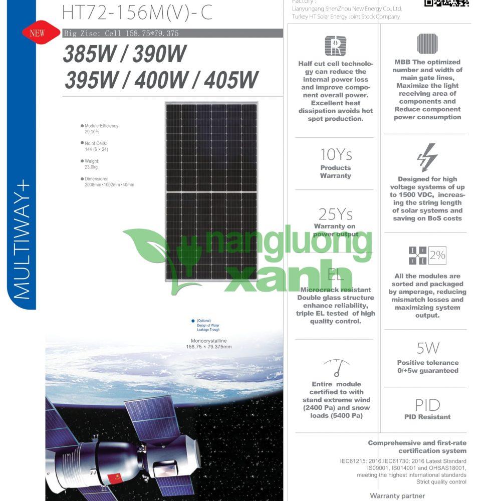 HT72 156M C halfcutcell 400wp 11 1000x1000 - Pin Năng lượng Mặt Trời HT-SAAE MONO HALFCUT CELL PERC 400Wp