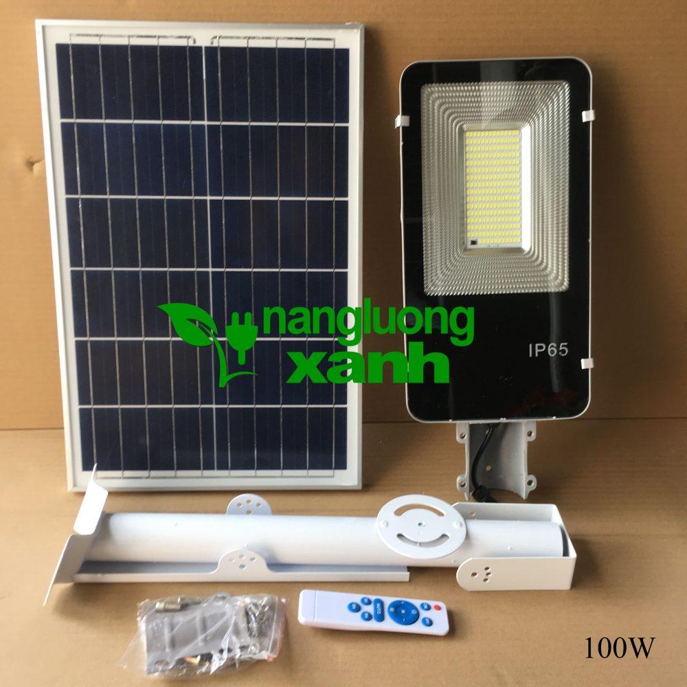 100w 1000x1000 - Đèn đường Năng lượng mặt trời bàn chải 100W