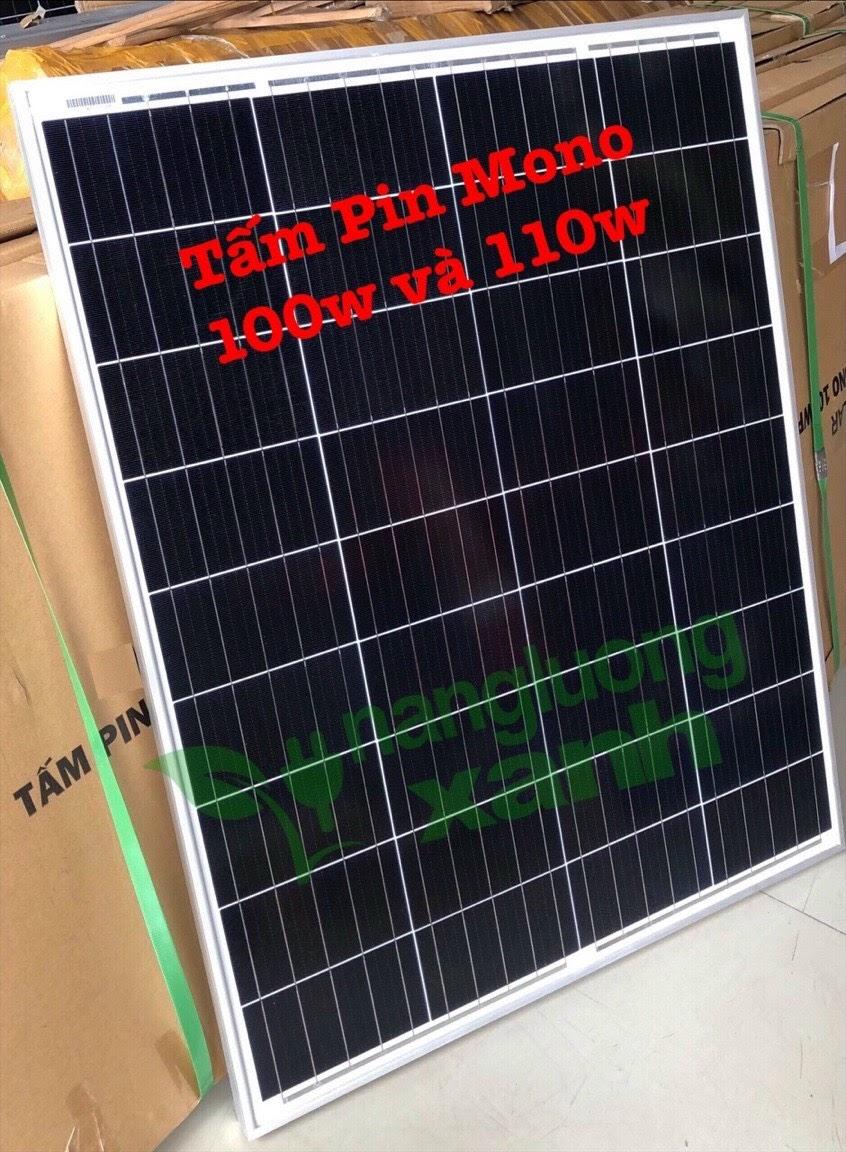 tam pin nang luong mat troi mono 100w1 - Tấm pin Năng lượng Mặt trời Mono 100W